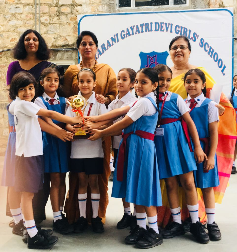 Students of primary wing stood runners up in Shloka competition at Neerja Modi School