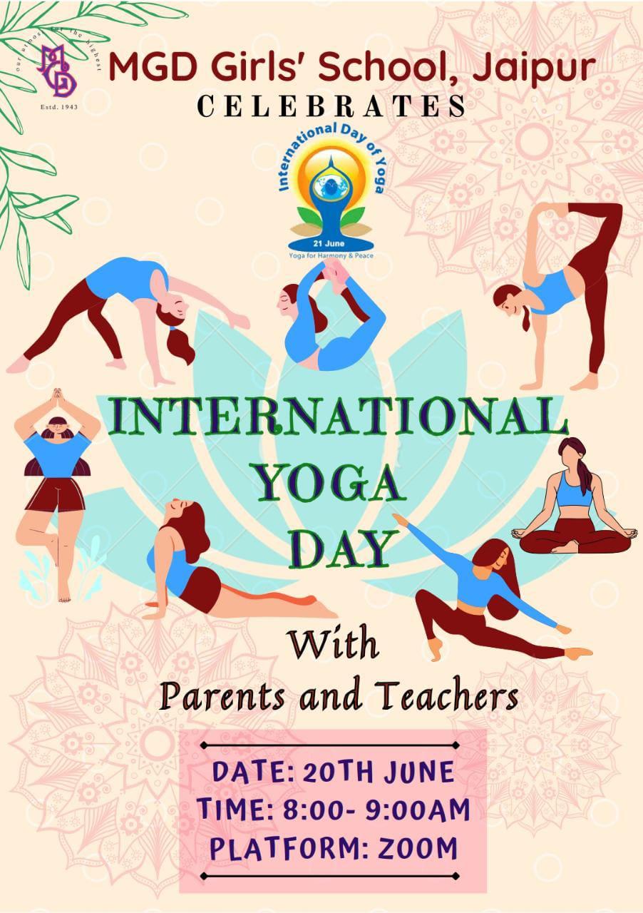 MGD Girls' School celebrated International Yoga Day
