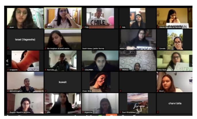 MGD MUN Club initiated Munner's Webinar@MGD series.