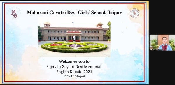 Rajmata Gayatri Devi Memorial English Debate 2021