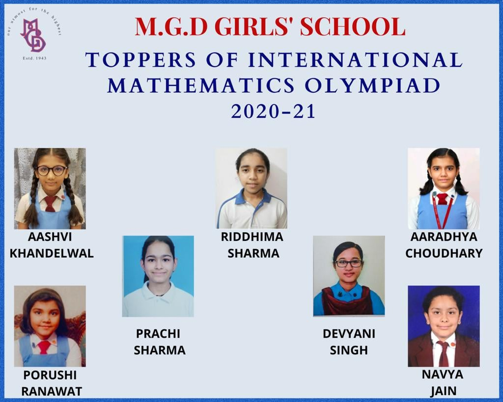 Congratulations to the winners of  Math, Science and English Olympiad