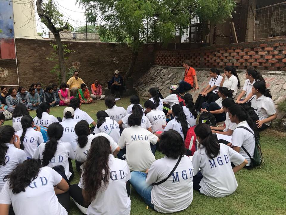 Girls of Class XII visited Soda village for Geography project