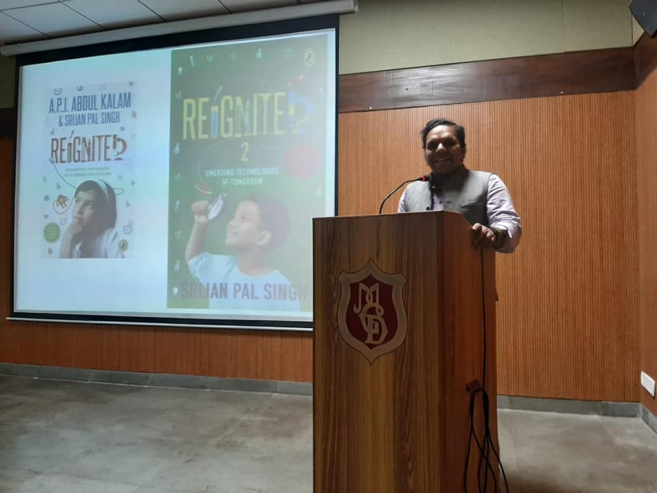 Session on Futuristic Careers by Author Mr Srijan Pal Singh, Author of Re-ignite.