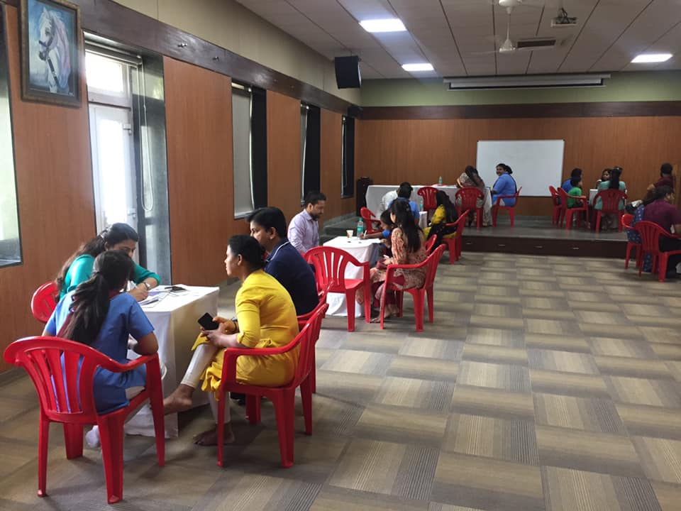 Career counselling sessions for class X students - One on one with parents and students