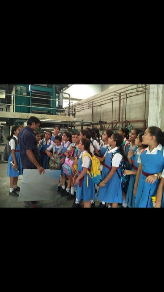 Educational trip to Rajasthan Patrika Printing Press.