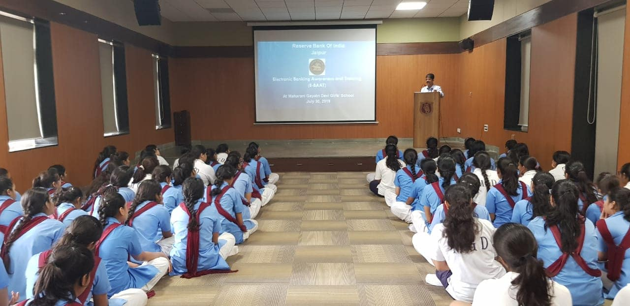 Reserve Bank of India organized E-Baat (Electronic Banking Awareness and Training) programme for the students of class XII