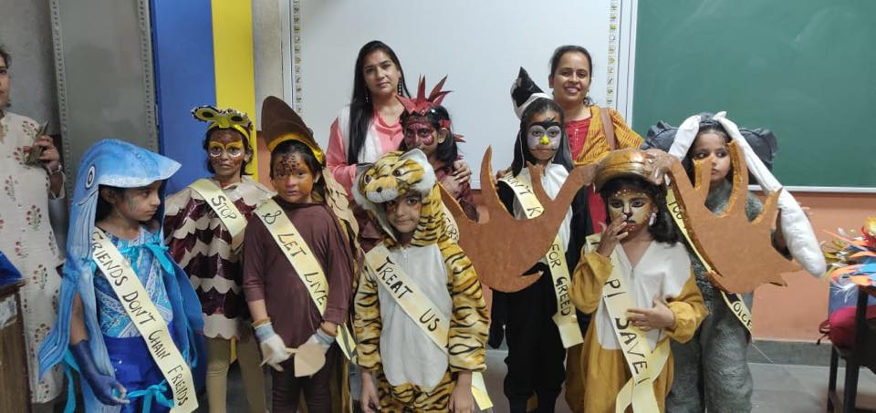 Primary students -  Bagged 2nd position in Fancy Dress at Seedling Public School