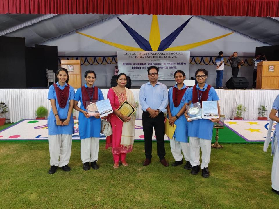 MGD participated in Lady Anusuiya Singhania Memorial All India English and Hindi Debates, 2019 at L K Singhania Education Centre, Gotan on 26 and 27 August 2019.