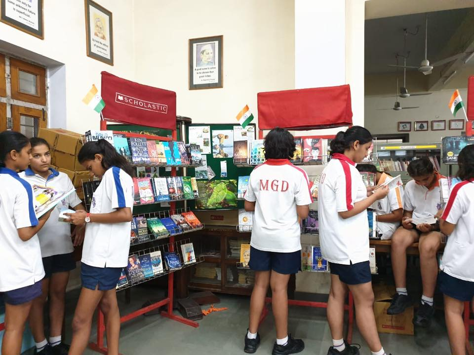 Scholastic organised Book fair at school library