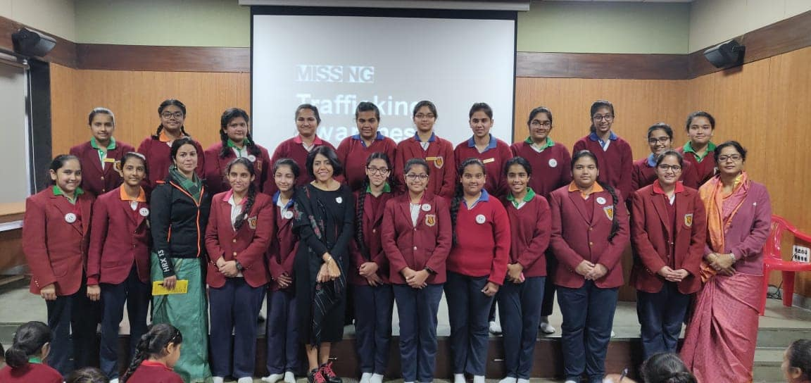 Anti trafficking awareness workshop for girls.