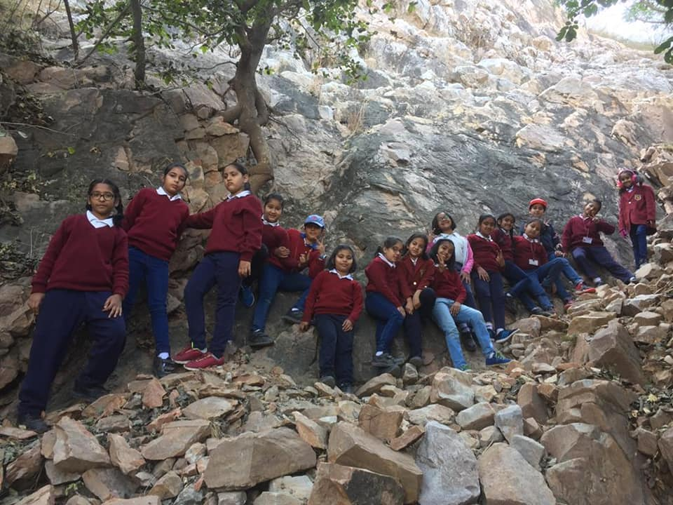 Soft Adventure Programme for classes 2nd to 8th - one day on the school campus and two days at Jhalana doongri.