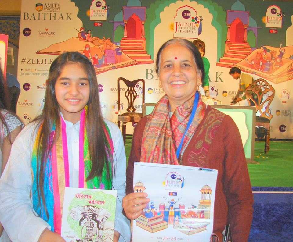 Launch of the book 'Chote Haath Badi Baat' at Jaipur Literature Festival.