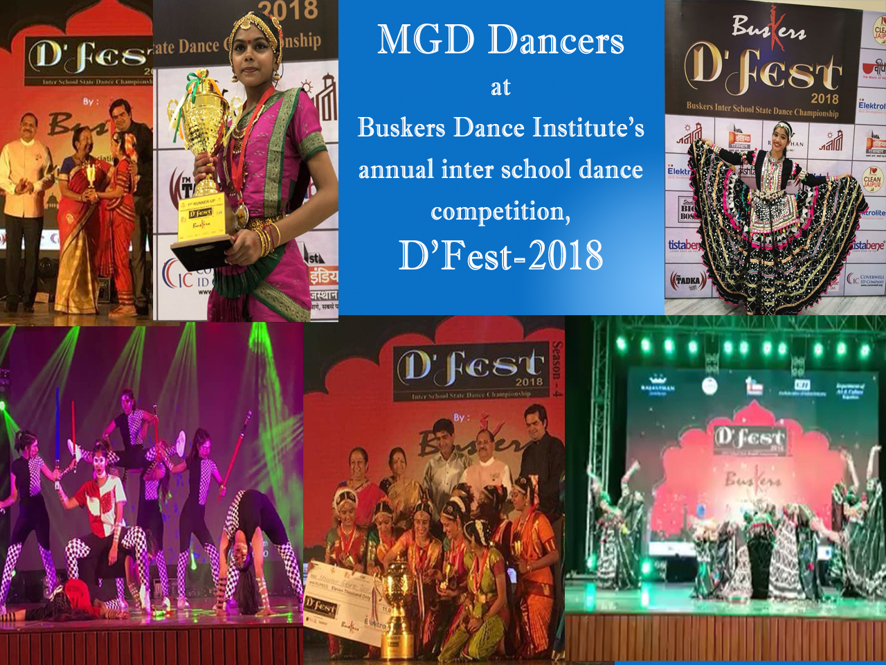 MGD dancers at Buskers Dance Institute's annual inter school dance competition, D'Fest-2018
