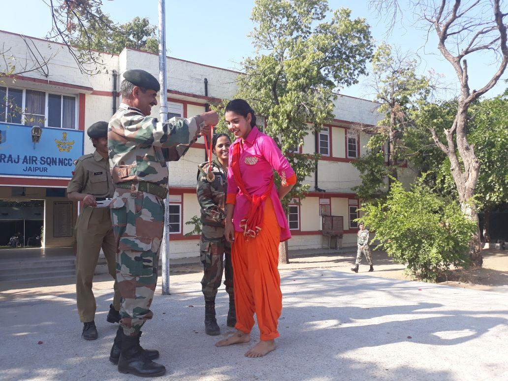 Best Shooter cadet Vasundhara Chandrawat