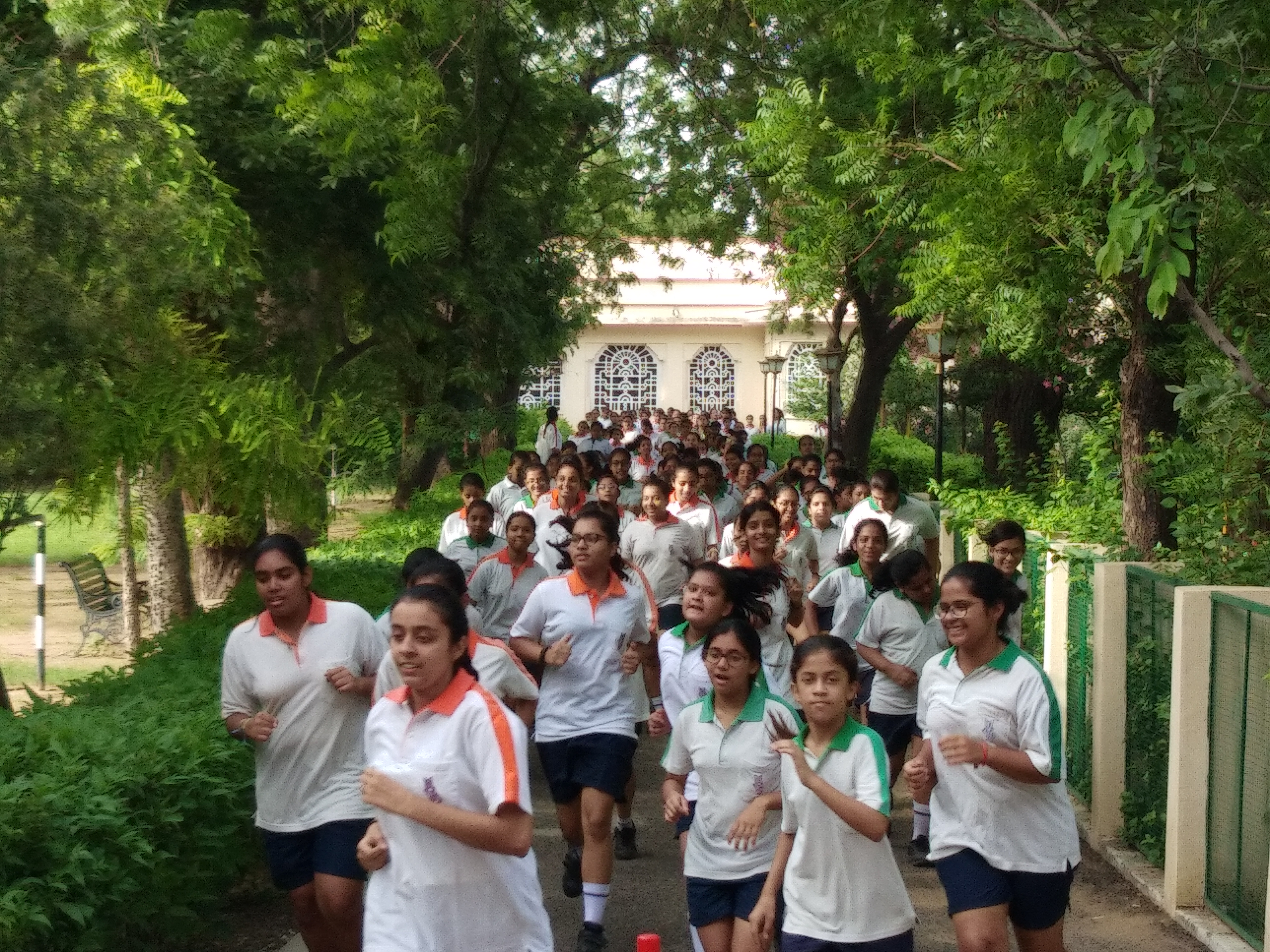 Juniorun Jaipur organized ZUMBA and BOOT Camp for MGD Students on 1st August, 2018