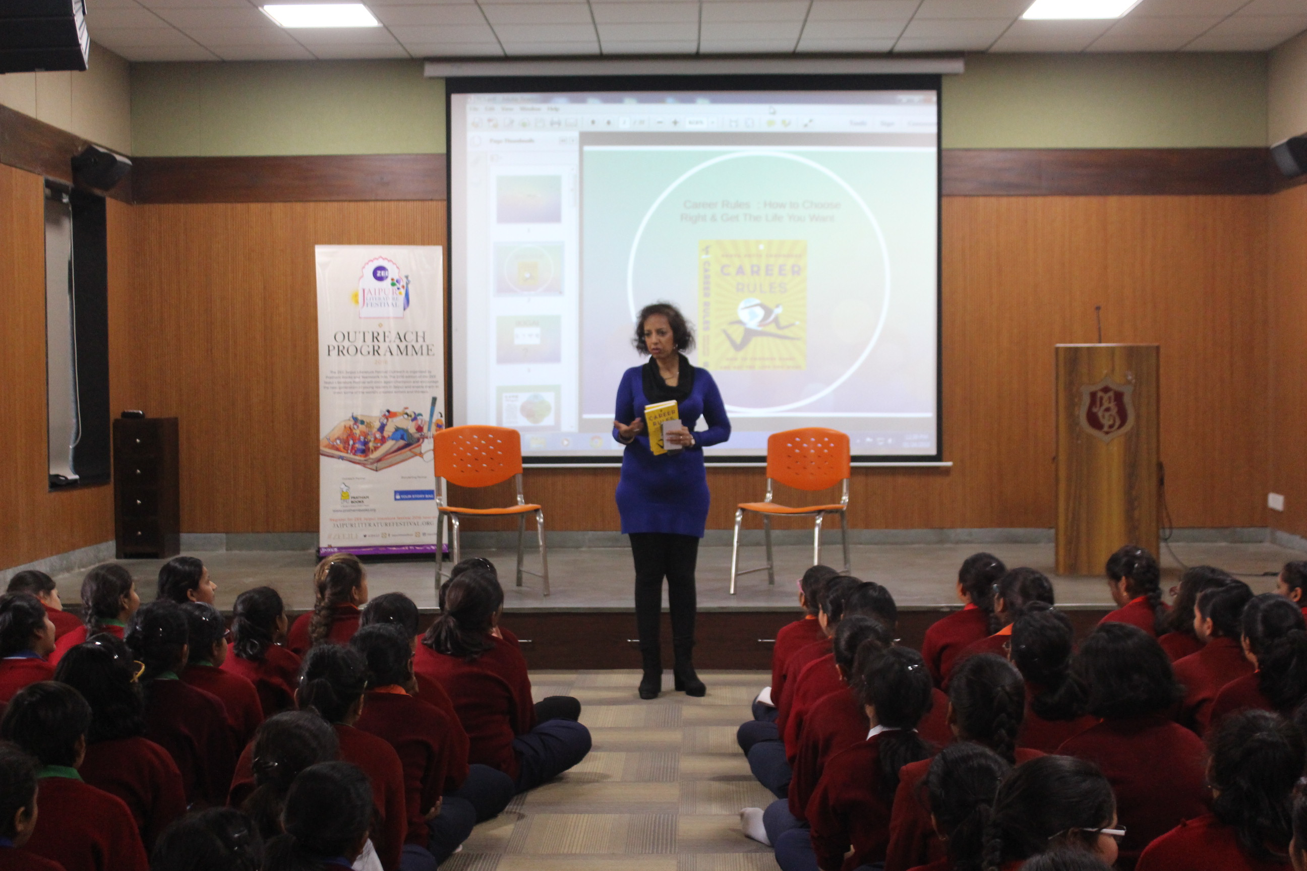 JLF Outreach Programme on 23 January 2018: talk by Ms Sonya Dutta Choudhury on Careers