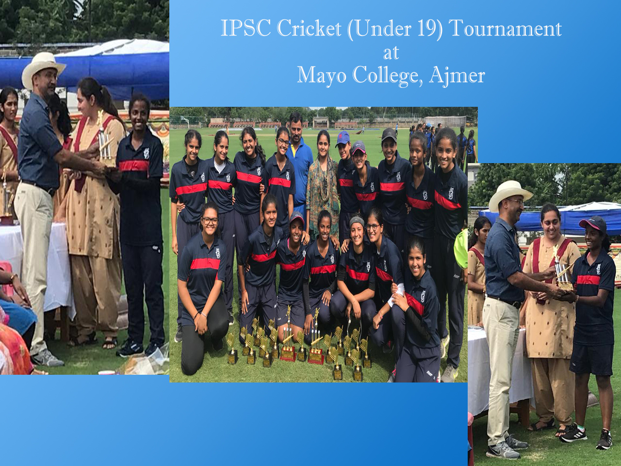 MGD cricket team bagged 2nd runners up position in IPSC Cricket (U-19) tournament held at Mayo College, Ajmer.