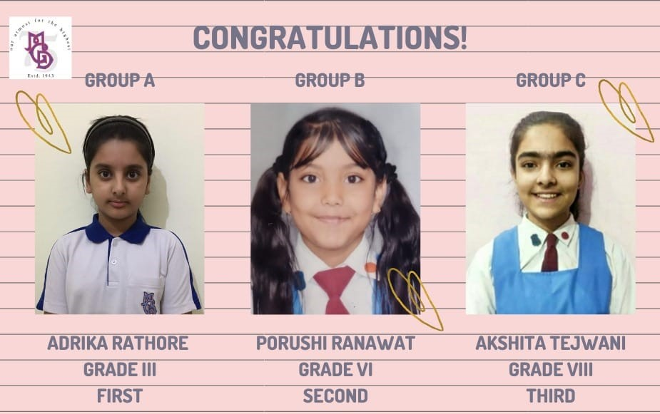 CONGRATULATIONS!! to our creative MGDIANS